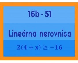 Lineárne rovnice a nerovnice