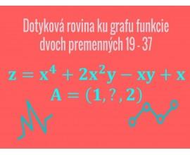 Dotyková rovina ku grafu funkcie dvoch premenných