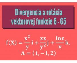 Divergencia a rotácia vektorovej funkcie
