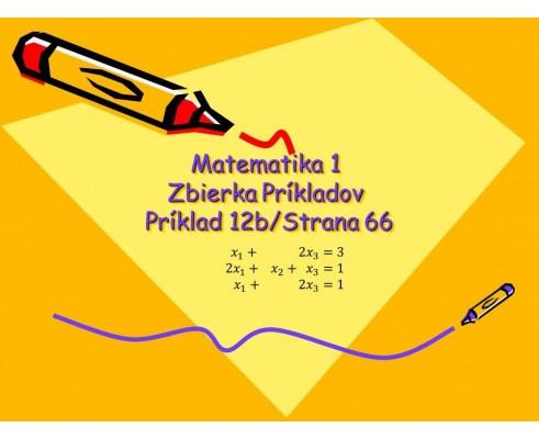 Systém lineárnych rovníc