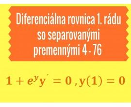 Diferenciálne rovnice 1.rádu so separovanými a separovateľnými premennými