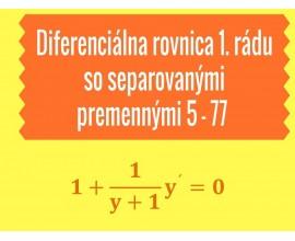 Diferenciálne rovnice 1.rádu so separovanými premennými