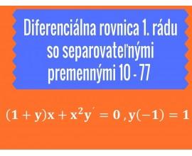 Diferenciálne rovnice 1.rádu so separovateľnými premennými