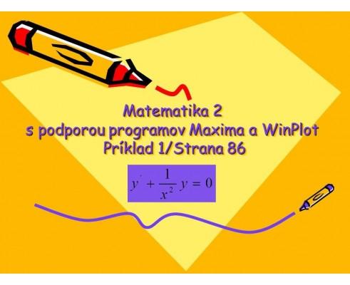 Diferenciálna rovnica 1. rádu bez pravej strany