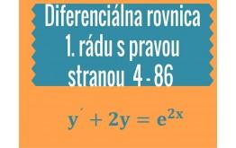 Diferenciálna rovnica 1. rádu s pravou stranou