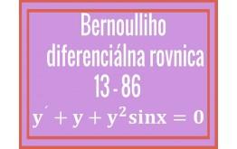 Bernoulliho diferenciálna rovnica