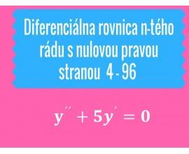 Diferenciálna rovnica n-tého rádu s nulovu pravou stranou