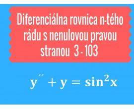 Diferenciálna rovnica n-tého rádu s nenulovu pravou stranou