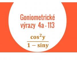 Goniometricke vyraza