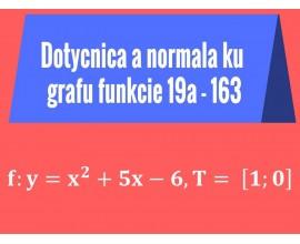 Dotyčnica a normála ku grafu funkcie