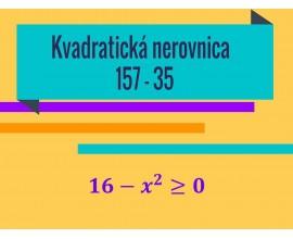Kvadratická nerovnica