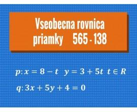 Všeobecná rovnica priamky